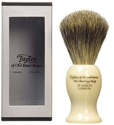 Taylor of Old Bond Street-Bastone imitazione tasso Pennello da barba, colore: avorio