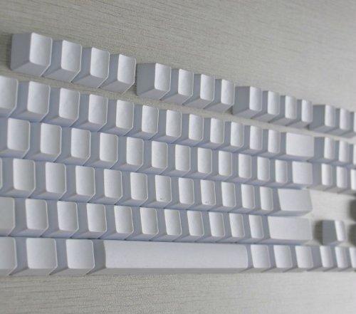 kbc-104-pbt-keycaps-white-otaku-set-de-104-touches-en-pbt-couleur-blanche-sans-lettrage-pour-switchs
