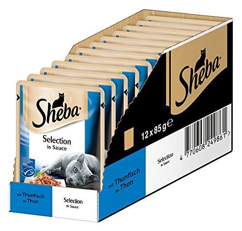 Sheba Selection in Sauce, Katzenfutter im Frischepack, Nassfutter für die täglichen Verwöhnmomente