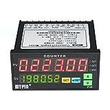 KKmoon Compteur Numérique Multifonctionnel Double LED Affichage 90 ~ 265V AC / DC longueur mètre avec 2 Sortie Relais et Impulsion PNP NPN