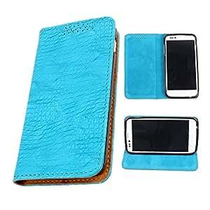 DooDa PU Leather Flip Case Cover For LG OPTIMUS L7II Dual (P715) (Baby Blue)