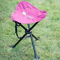 A2Z Home Solutions® Silla de trípode compacta y cómoda para exteriores, jardín, camping, picnics y festivales (burdeos)