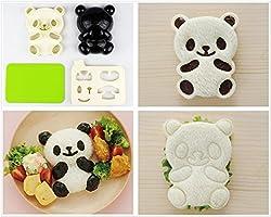 Excelity Cute Panda Bear DIY Sandwich & Rice Cutter, Cake Bread Toast Mold Maker