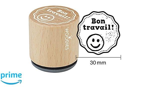 Bois Woodies WF1304 Tampon Bon Travail 3,4 x 3,4 x 3,5 cm