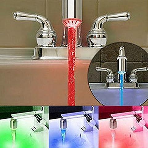 Kreative LED-Tap3 Farbe ändern Temp sensible Wasseranschluß Neue Generation BBHYY (Ändern Umkehrosmose-filter)