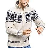Mantel Sunnyadrain Herren Jacke Strickwaren Muster Lose Plus Größe Reißverschluss Pullover Winter Warm Sweatshirt Top Langarm