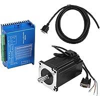 Controlador de Servo Híbrido, HSS86 + NEMA34 Servo Motor Paso a Paso de Alta Velocidad con Circuito Cerrado 8N.M 0 ~ 3000RPM para Fresadora CNC con Grabado de Enrutador