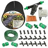 50m CS Perlschlauch Startup Z15,Bewässerungscomputer,Wasserfilter,Druckminderer,20m Gartenschlauch mit Anschlüssen,Zubehör