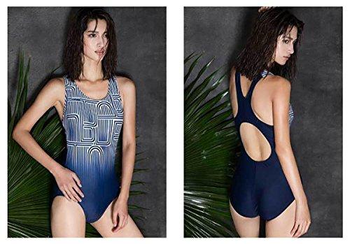 SHISHANG Frauen professionelle Swim Badeanzug großen Größe Damen Badeanzug schnell trocknenden Europa und den Vereinigten Staaten hoch elastischen Frauen Dreieck Dreieck Badeanzug schwarz bar blau Eis zhangs blue