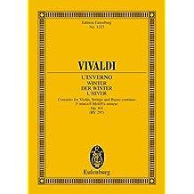 """Die vier Jahreszeiten: """"Der Winter"""" f-Moll. op. 8/4. RV 297 / PV 442. Violine, Streicher und Basso continuo. Studienpartitur. (Eulenburg Studienpartituren)"""