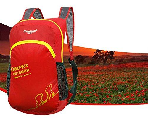 Outdoor-klappbare Pack Haut Pack Ultralight Rucksack Rucksack wasserdicht Nylon Männer und Frauen camping Tasche Red