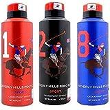 BHPC POLO RED,BLACK & BLUE DEODORANT SPRAY FOR MEN (PACK OF 3)