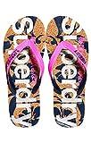 Superdry Printed Cork Flip Flop, Tongs Femme, Multicolore (Magenta/Dark Navy J2b),...