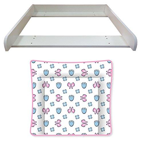 Polini niños mesa de cambio y la almohadilla de mariposas blancas de la cómoda Malm