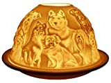 welink light-glow Teelichthalter, Best Friends Hunde