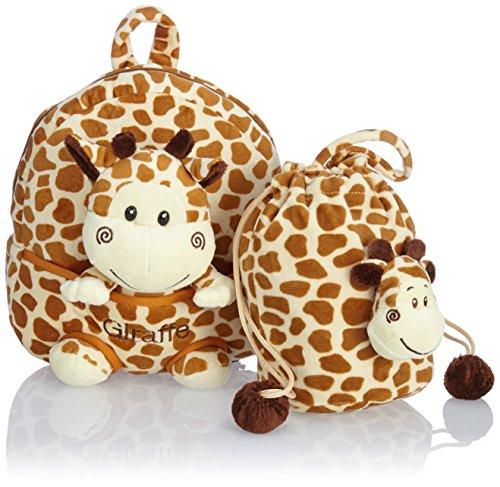 HAUPTSTADTKOFFER Kinder-Rucksack Kinderrucksack 4.5 Liter Braun HKK-2345-Giraffe Braun Giraffe