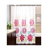 MaxAst Bunten Blume Duschvorhang Anti Schimmel, Peva Badewanne Vorhang 180x200CM, Antibakteriell Wasserdicht mit Ringe