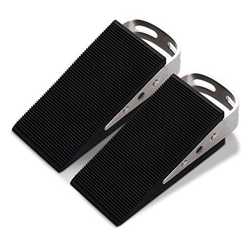 FLORA GUARD 2-Packs Premium Door Stopper- Heavy Duty Wedge Rubber Door Stopper, Non-Scratching Door Stop, Anti-Slip Garden Stopper (003) Keil