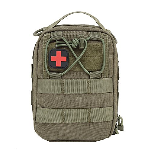 Tracffy EMT First Aid Utility Pouch Compact Tactical MOLLE Medical kit Bag 1000D for Home Car Outdoor Workplace Travel Mesh-shooting Vest