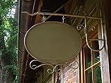 antikas–Enseigne Lumineuse de forme ovale avec support pour la mural style ancien–rótulos Affiches de Publicité pour magasin bar restaurant