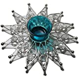 STREET CRAFT Crystal Decor Diya Flower Tealight Votive,Candle Holder Deepak Tea Light