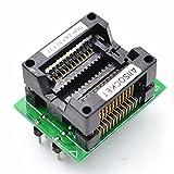 Allsocket SOP24-7.5-1.27 SOP24-auf-DIP24-Programmieradapter, Integrierter-Schaltkreistest- und Burn-In-Test-Sockel, zum Testen, Fehlersuche, Validieren, Programmieren, 1,27 mm Rastermaß, 7,5 mm Breite