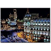 panel de la lona lona edificio Metropolis España Madrid Calle de Alcala Gran Via Muebles 70x50 cm