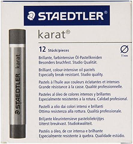 Staedtler Karatâ Lot de 12 Pastels à l'huile Noir