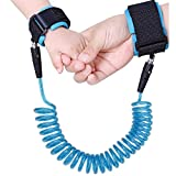 Baby Child Anti Lost Wrist Link Safety Walking Hand Belt Strap for Toddlers and Kids(blue)