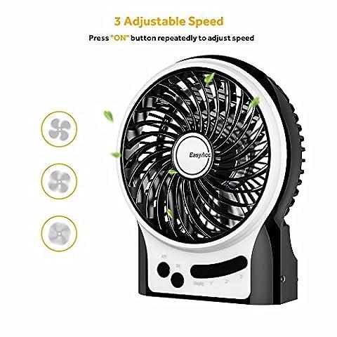 EasyAcc-Mini-Ventilador-USB-Ventilador-Recargable-con-3-velocidades-2600mAh-LG-Batera-para-Interiores-y-Exteriores-Negro