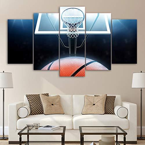 inwand Poster Wohnzimmer Wandkunst 5 Stücke Sport Basketballplatz Dekoration Modulare Bilder ()