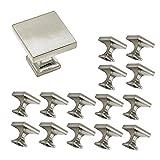 Goldenwarm LS6785SNB Boutons de meuble métalliques carrés pour armoire, penderie,...