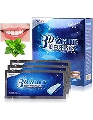 KISSION Teeth Whitening, Dental whitening, Whitening Strips, 3D Teeth Whitening Strips, 14 Pairs/28 Strips