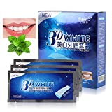 KISSION Blanchiment des dents, Blanchiment Dentaire, Bandes Blanchissantes, 3D Teeth Whitening Strips, 14 Paires/28 Bandes