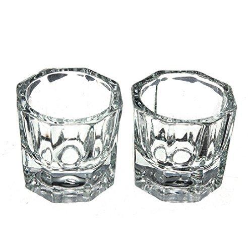 profesional uñas cristal vaso para acrílico líquido polvo Glass Dap