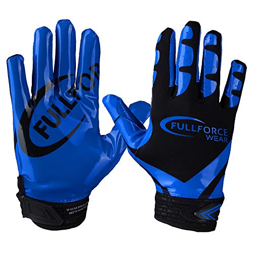 Full Force Victory American Football Receiver Handschuhe - schwarz/royal Gr. M