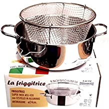 Viscio Trading - 165878 - Freidora inoxidable con cesta de aluminio, apta también para placa