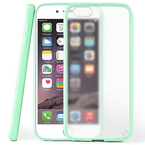 iPhone 6S Hülle Slim Transparent Schwarz [OneFlow Impact Back-Cover] Dünn Schutzhülle Silikon Handy-Hülle für iPhone 6/6S Case TPU Tasche Matt JADE-MINT