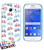 MUZZANO Ultra Slim Soft Case for Samsung Galaxy Ace 4[Cycling] (Lagoon Blue) + Stylus + Microfibre Cloth Mobile Free–The Ultimate, Sleek and Durable Protective Case for Samsung Galaxy Ace 4