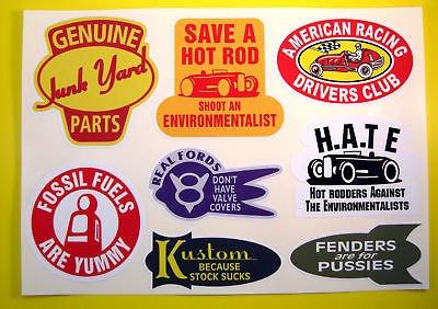 HOT ROD Retro vintage Sticker Aufkleber set Ford Chevy