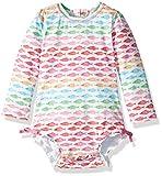 Hatley Baby-Mädchen Badeanzug Rash Guard Swimsuits (Watercolour Fishes), ((Herstellergröße: 9-12 Monate)