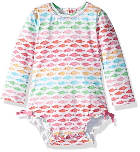 Hatley Baby-Mädchen Rash Guard Swimsuits Badeanzug, ((Watercolour Fishes), ((Herstellergröße: 3-6 Monate)