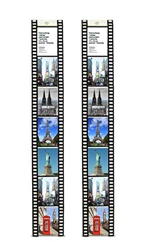 Trendfinding 2 Fototaschen 13 x 18 für 7 Fotos Hochformat Filmstreifen Deko Foto Bilder Karten Halter Fotowand Fotohalter Kartenhalter (13x18 Hochformat 7 Fotos)