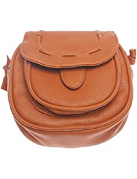 Zibuyu Women PU Leather Vintage Handbag Tote Shoulder Crossbody Bag Purse Brown #T1K