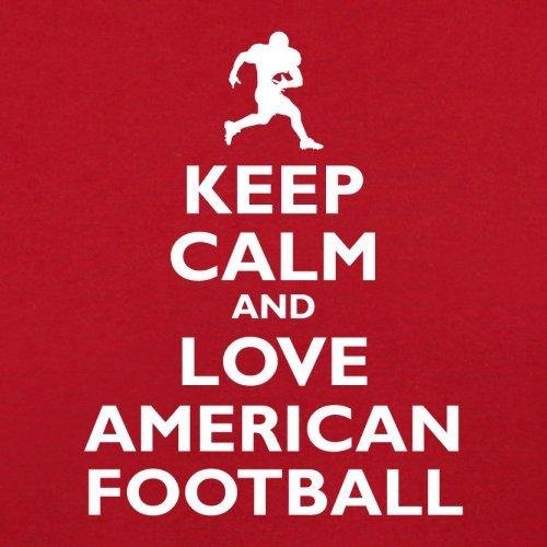 Keep Calm and Love American Football - Damen T-Shirt - 14 Farben Rot