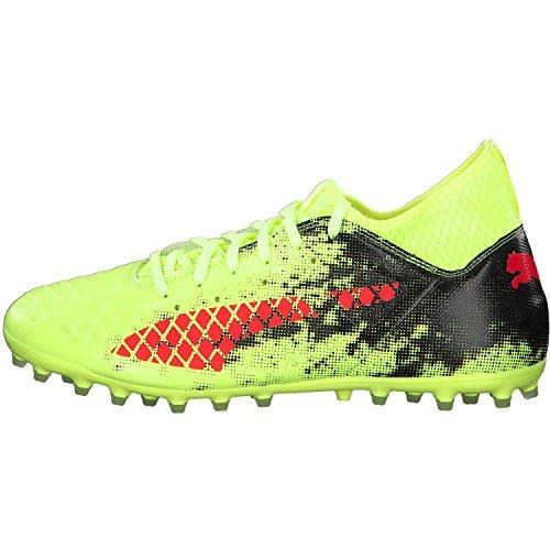 Puma Herren Future 18.3 MG Fußballschuhe Gelb (Fizzy Yellow-Red Blast-Puma Black)