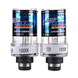 D2S HID luz de xenon - SODIAL(R)2 X 35W D2S HID luz de xenon de coche par de bombilla de lampara de linterna de 10000K