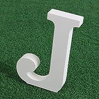 Color blanco de madera letras alfabeto, Pure Color Blanco Madera 26alfabeto moderno para decoraciones de boda, fiesta de cumpleaños, casa