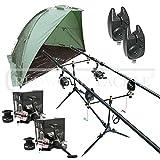 Carp Fishing Set & Bivvy/Shelter, Rods, Reels, Pod, Alarms