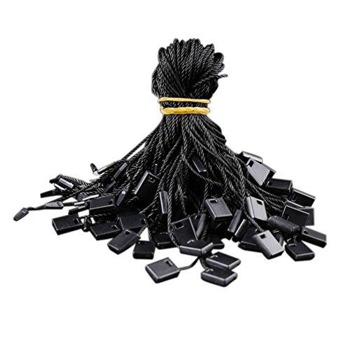 Baumwoll-haken (Da.Wa 1000pcs Hang Tag Baumwolle String Snap Lock Pin Loop Fastener Haken Krawatten einfach und schnell zu befestigen, 7 Zoll (schwarz))